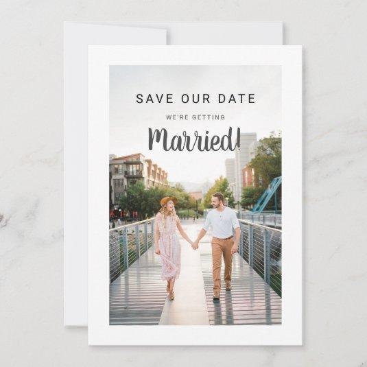 Wedding Save Date 2 Photo Front Back Make Your Own Save The Date
