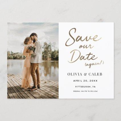 Wedding Save our Date Again Invitation