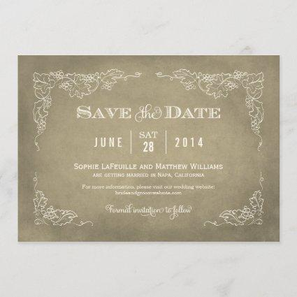 Wedding Save the Date Cards | Vintage Wine
