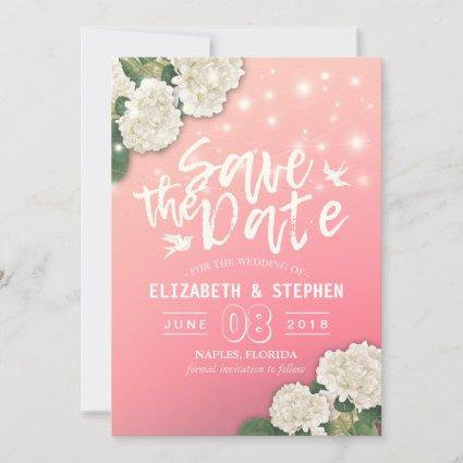 Wedding Save The Date Chic Hydrangea String Lights