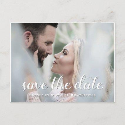 Wedding Save the Date | Elegant Modern Script Announcements Cards