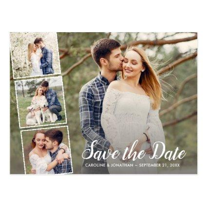 Wedding Save the Date Engagement Photo Collage
