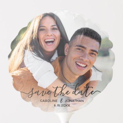 Wedding Save the Date Engagement Photo Prop Script Balloon