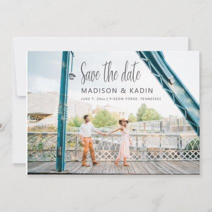 Wedding Save the Date Eucalyptus White