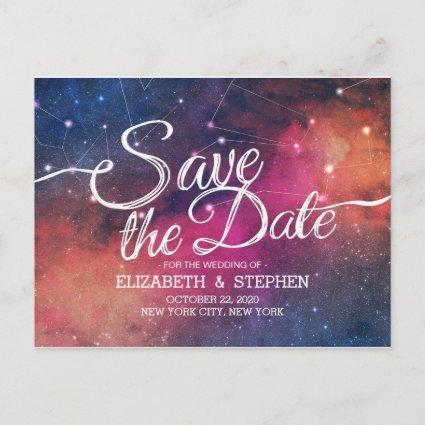 Wedding Save The Date Galaxy Nebula Constellations Announcement