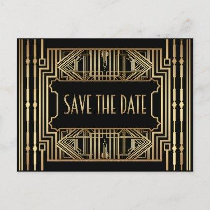 Wedding Save the Date, Great Gatsby Style Announcement