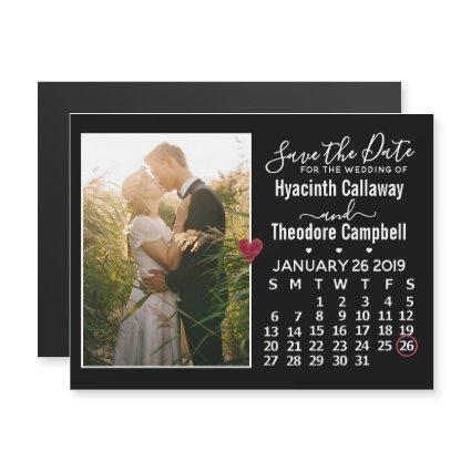 Wedding Save the Date January 2019 Calendar Photo
