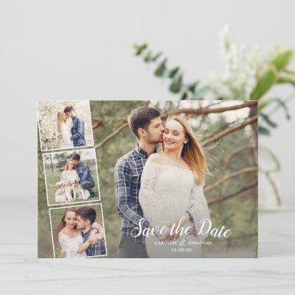Wedding Save the Date Many Photos Collage Pretty