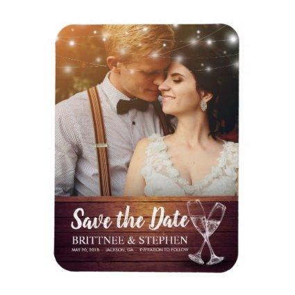 Wedding Save The Date Magnets Champagne Glass