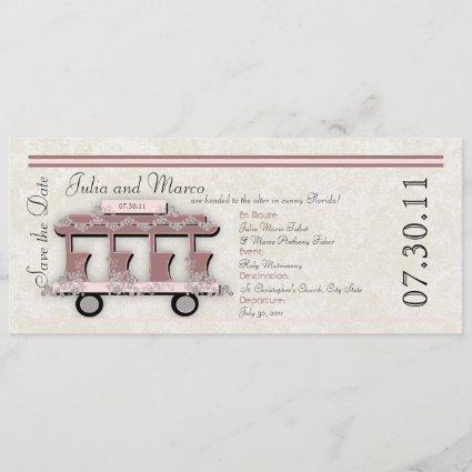 Wedding Trolley Invitation