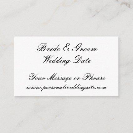 Wedding Website Insert Card for Invitations