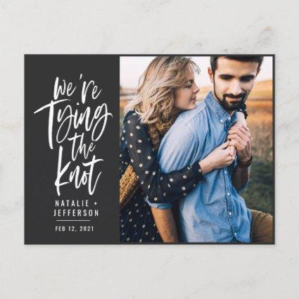 We're tying the knot announcement