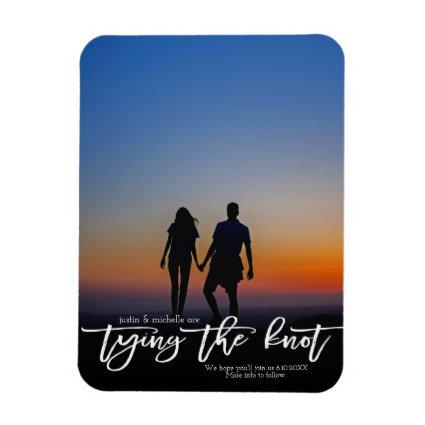 Were Tying The Knot Photo Wedding Save The Date Magnet