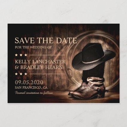 Western Cowboy Wild West Save The Date