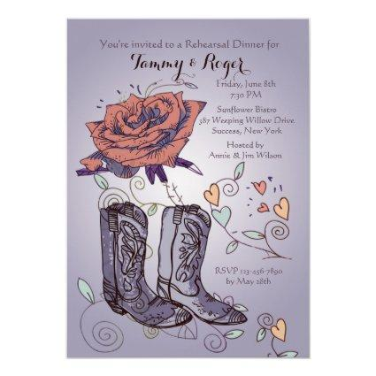Western Rose Invitation