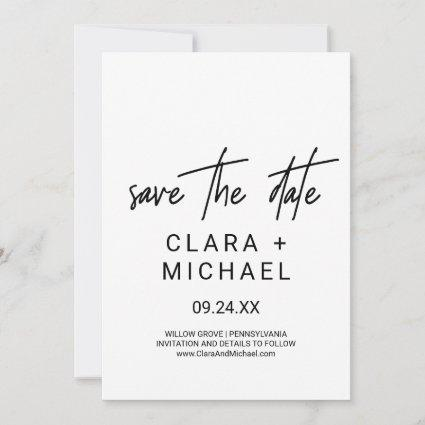 Whimsical Calligraphy | Photo Save the Date Cards