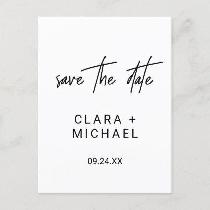 Whimsical Calligraphy Wedding Save the Date Invitation