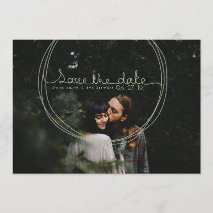 Whimsical Circle Save the Date Photo Invite