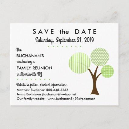 Whimsical Family Tree Reunion Save the Date Announcement