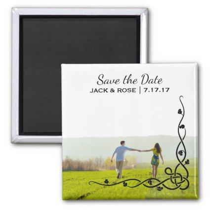 Whimsical Overlay | Custom Photo Save the Date Magnet