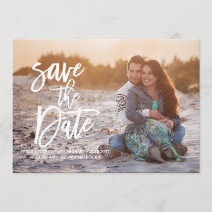 Whimsical Typography CalligraphySave the Date Card