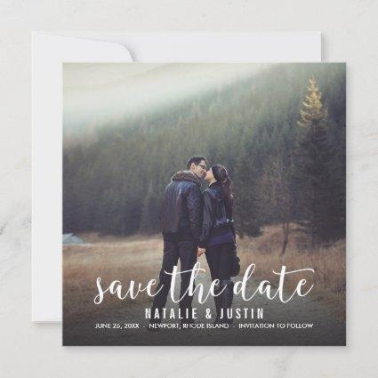 Whimsy Photo Save the Date Square Announcement