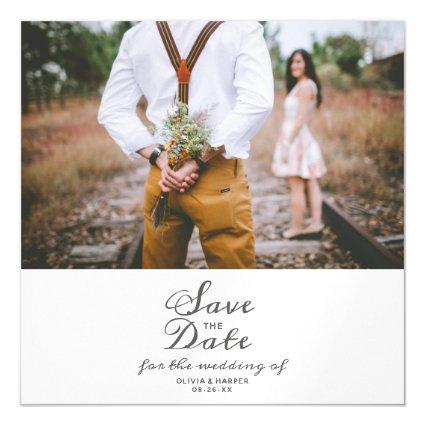 Whispering Wildflowers Watercolor Save the Date Magnetic Invitation