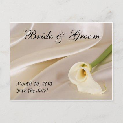 White Calla Lily-Save the Date Announcement