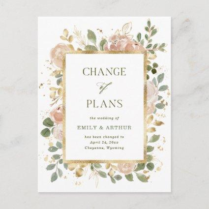 White Neutral Floral   Wedding Change of Plans