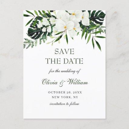 White Orchid Bohemian Floral Wedding