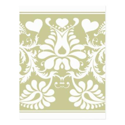 White Vintage Floral Wedding Favors Cards