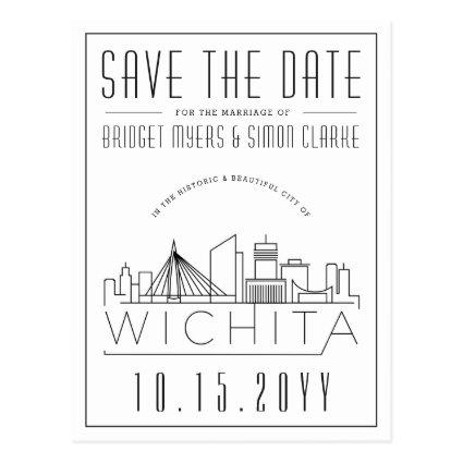Wichita Wedding | Stylized Skyline