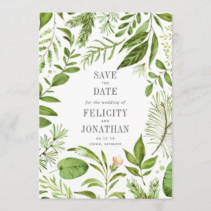 Wild Meadow Save the Date Card