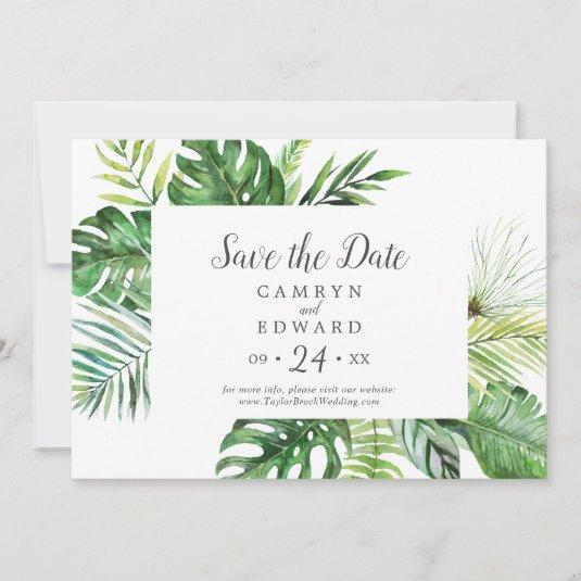 Wild Tropical Palm Save The Date