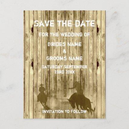 Wild west western ranch theme save the date announcement