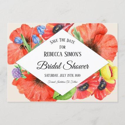 Wildflowers Bridal Shower Save The Date