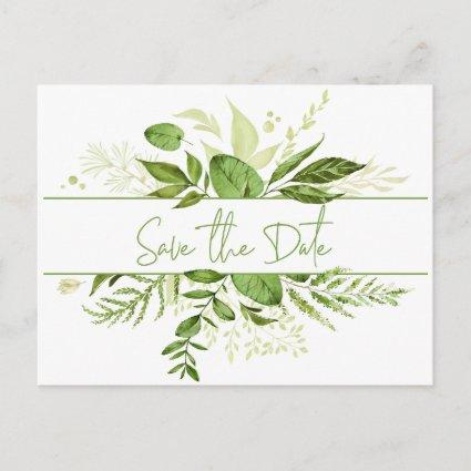 Wildwood Botanicals Rustic Greenery Save the Date Announcement