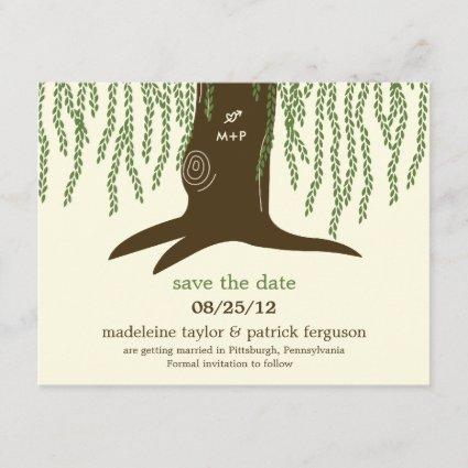 Willow Tree Save The Date Card