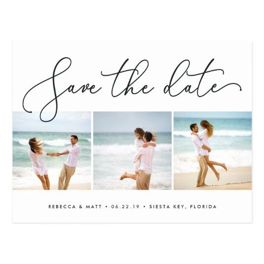 Windswept | Beach Wedding Photo Save the Date Cards