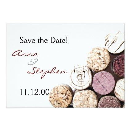 Wine bottle corks invitation