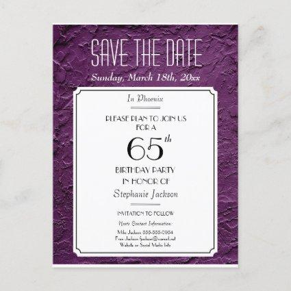 Wine Faux Textured Party or Reunion Save the Date Announcements Cards