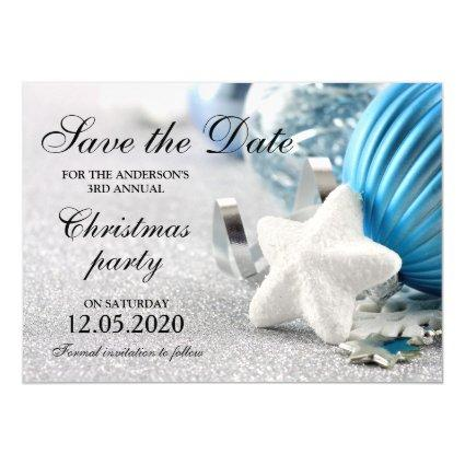 Winter Christmas Holiday Party Save The Date Magnetic Invitation