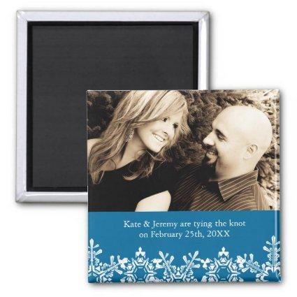 Winter Wedding Save the Date Magnet