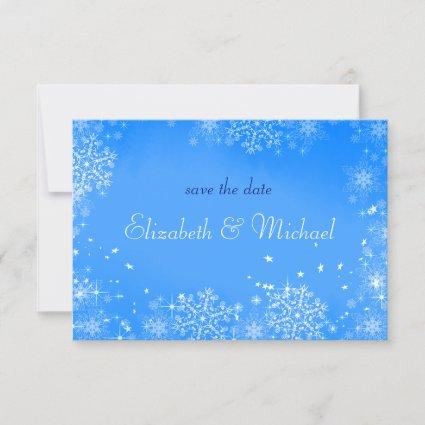 Winter Wedding Snowflakes Save the Date