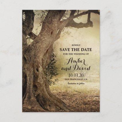 Woodland Tree Backyard Wedding Save The Date Announcement