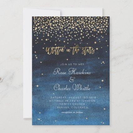 Written in the Stars Wedding Invitation