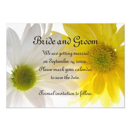 Yellow Daisies Wedding Save the Date Announcements
