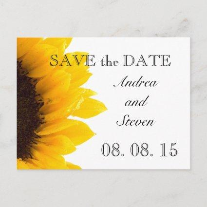 Yellow Sunflower Photo Save the Date Cards