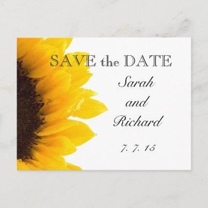 Yellow Sunflower Save the Date Cards