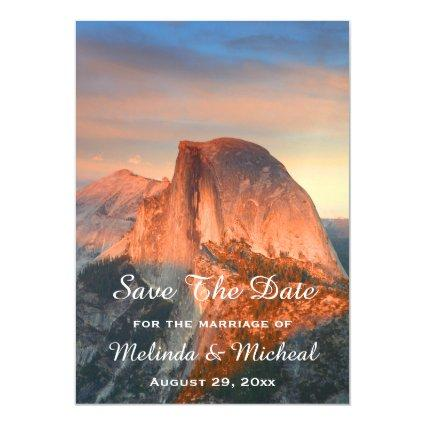 Yosemite Half Dome Sunset Save The Date Wedding Magnetic Invitation